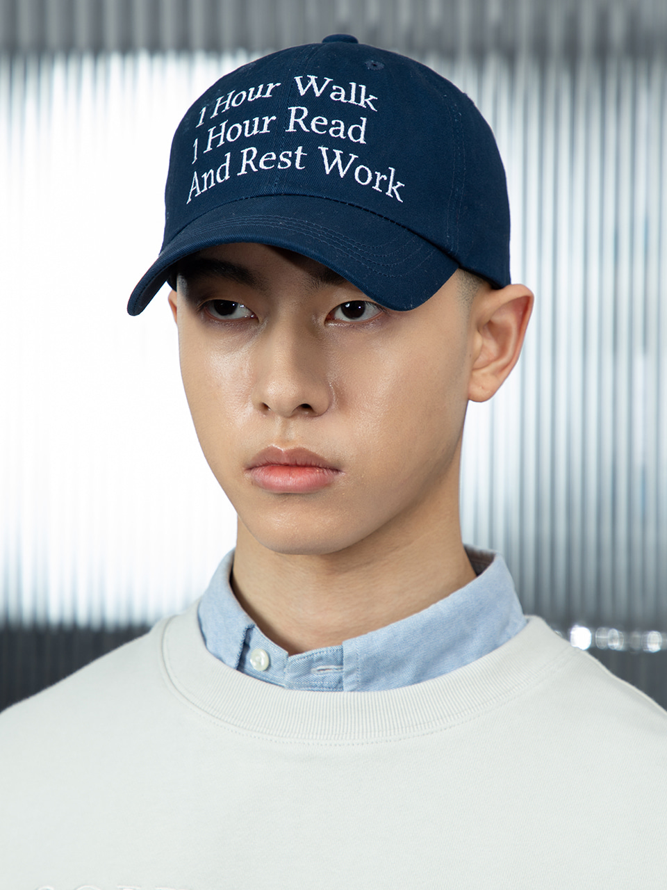 SOUNDSLIFE - [4/21(수) 예약배송] SL X TNM Slogan Ball Cap Navy