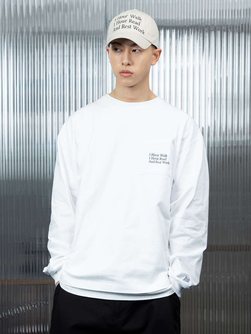 SOUNDSLIFE - SL X TNM Pocket Long Sleeve White